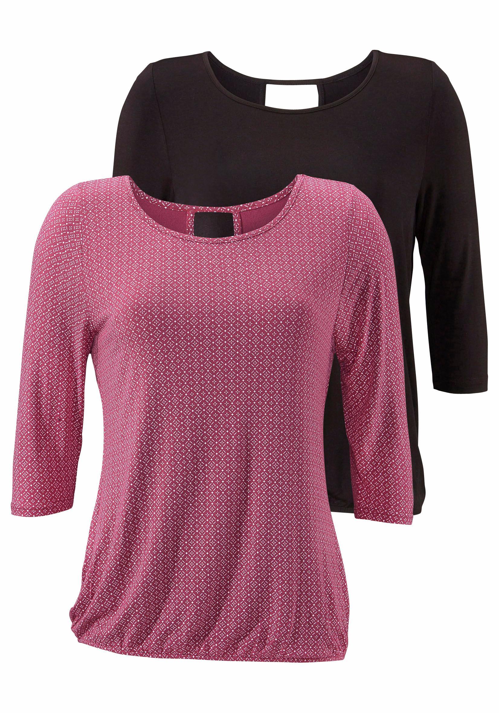 8406175f793404 LASCANA Shirt (2 Stück) mit Cut-out im Nacken online kaufen