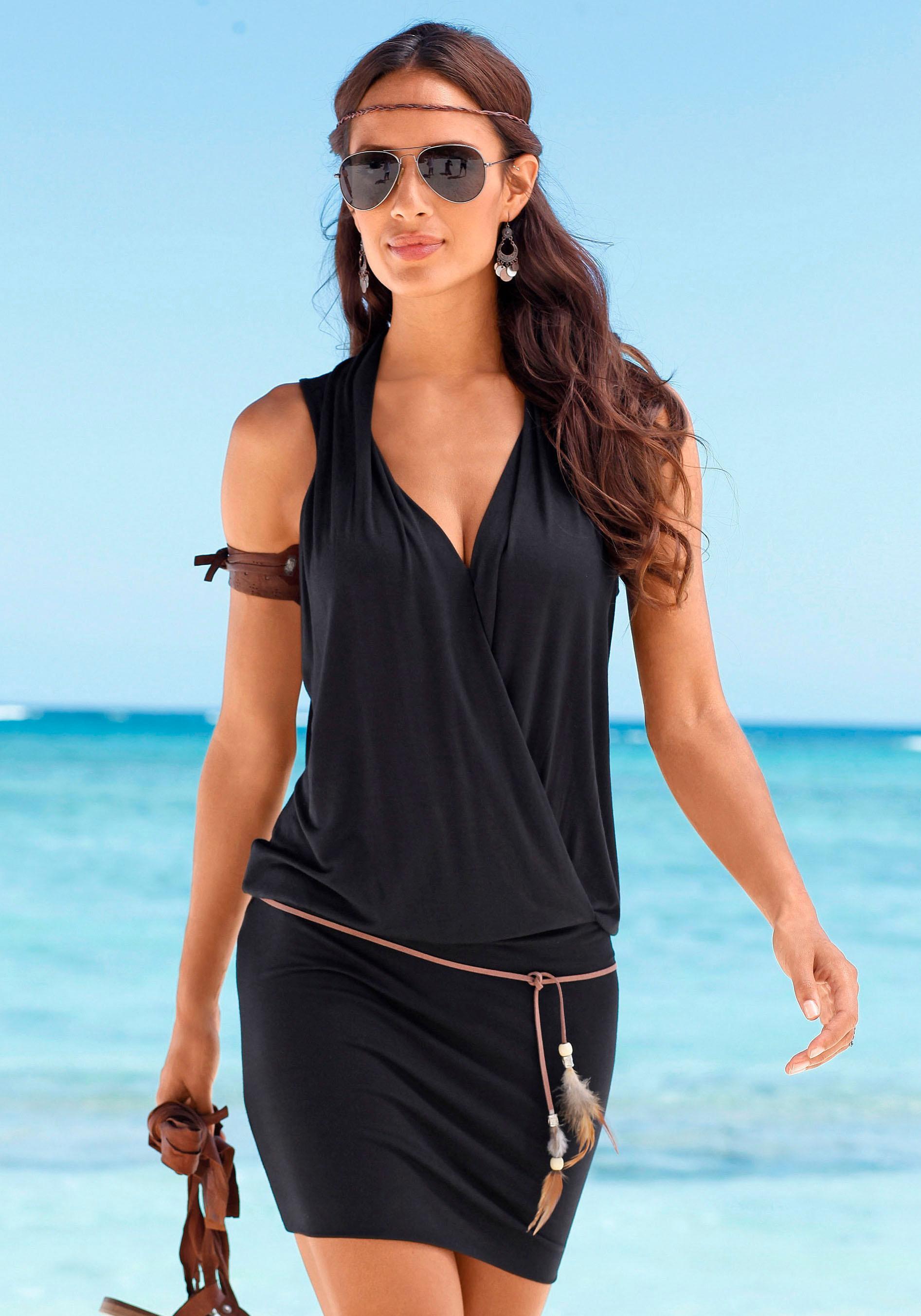 s.Oliver RED LABEL Beachwear Longshirt (inkl. Gürtel)