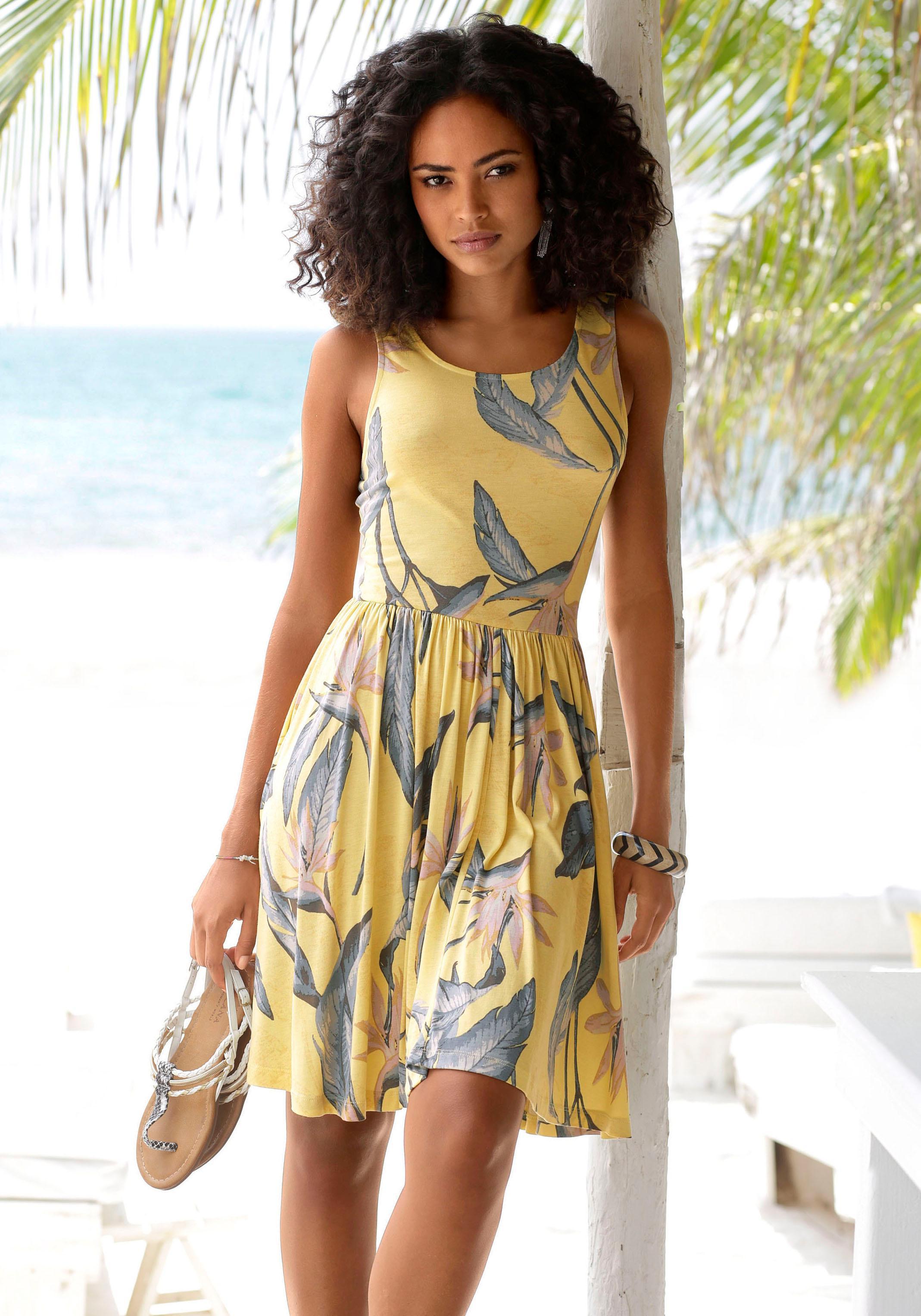 Beachtime Strandkleid mit gerafftem Rockteil