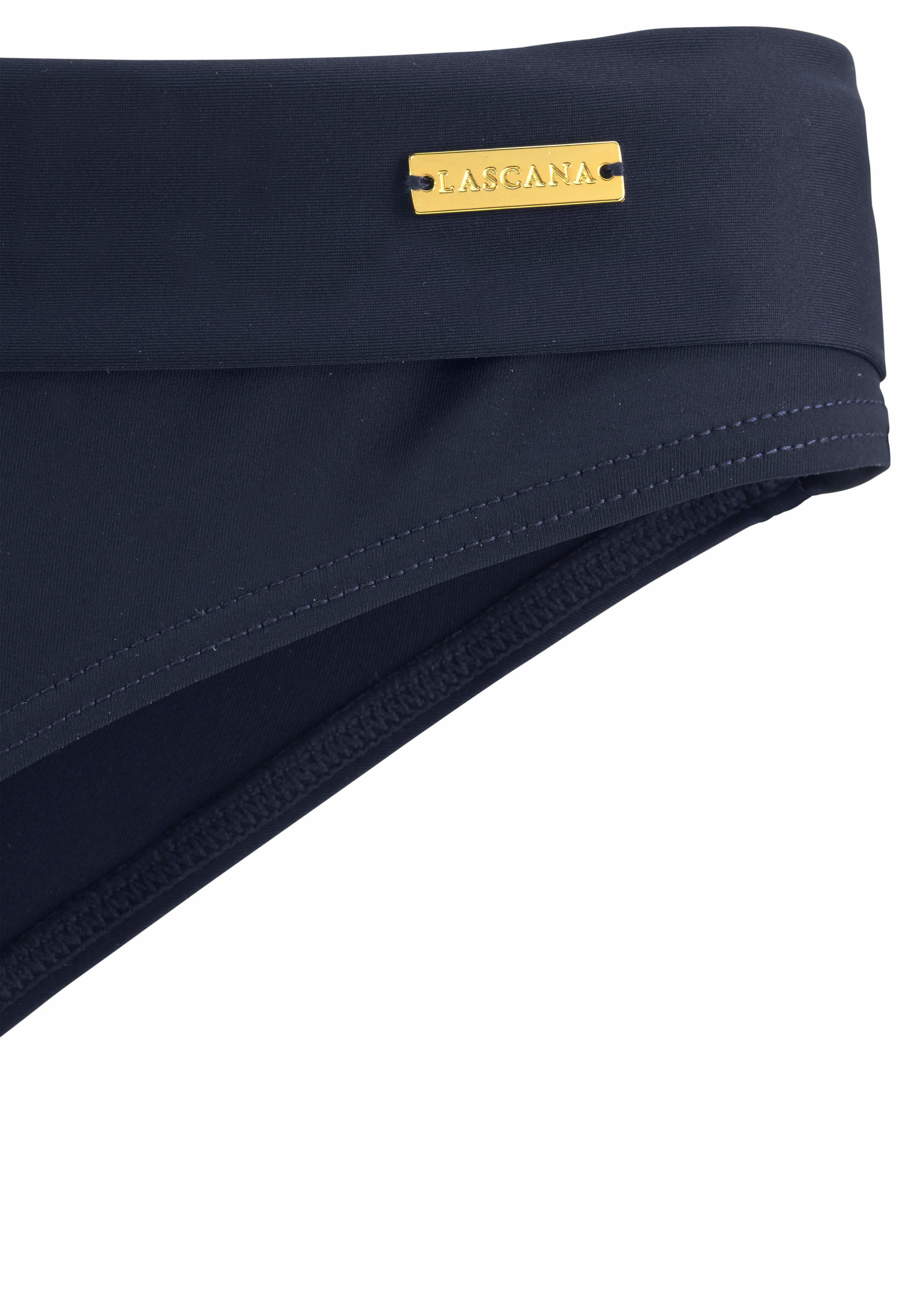 LASCANA Bikini-Hose »Italy« mit Umschlagbund