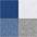 1x weiß + 2x grau mel. + 2x royalblau +  2x jeans mel.