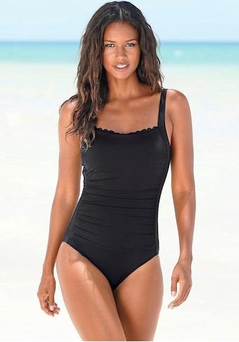 LASCANA Badeanzug »Scallop«, mit Wellenkante