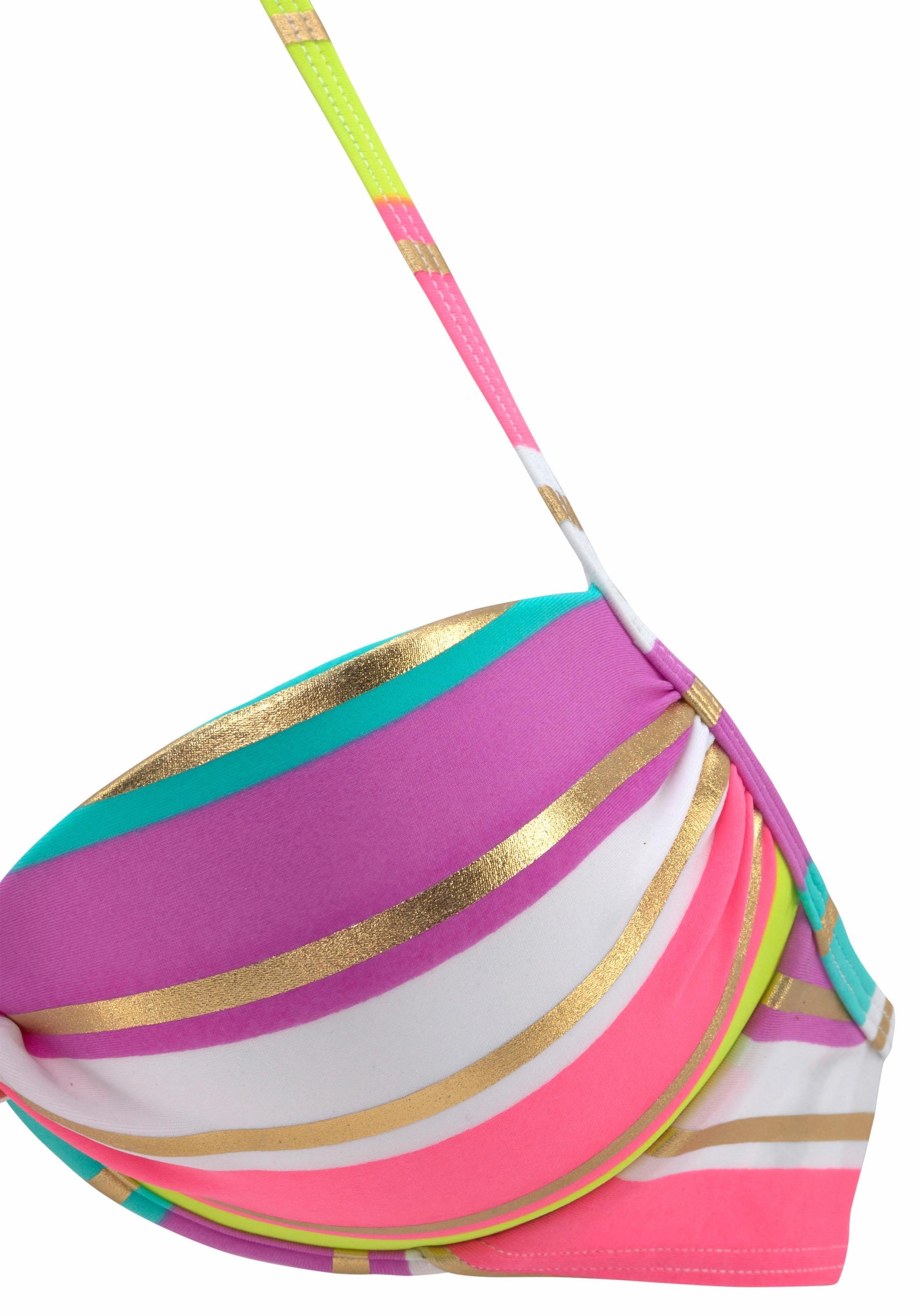 s.Oliver RED LABEL Beachwear Push-up-Bikini mit Goldglanz-Streifen online  kaufen 501d27503a