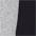 grau meliert + schwarz