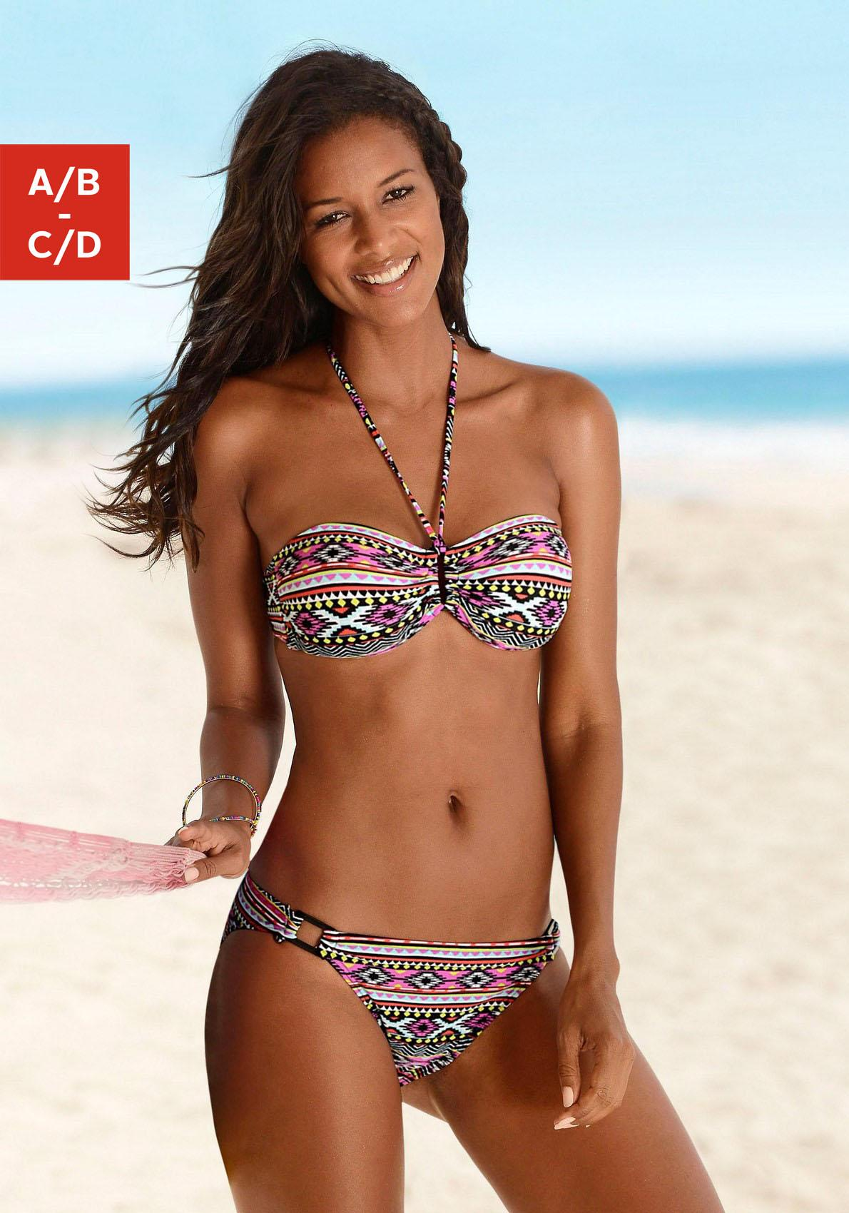 LASCANA Bandeau-Bikini im trendigen Ethno-Print