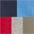 rot + blau + marine + khaki + grau-meliert