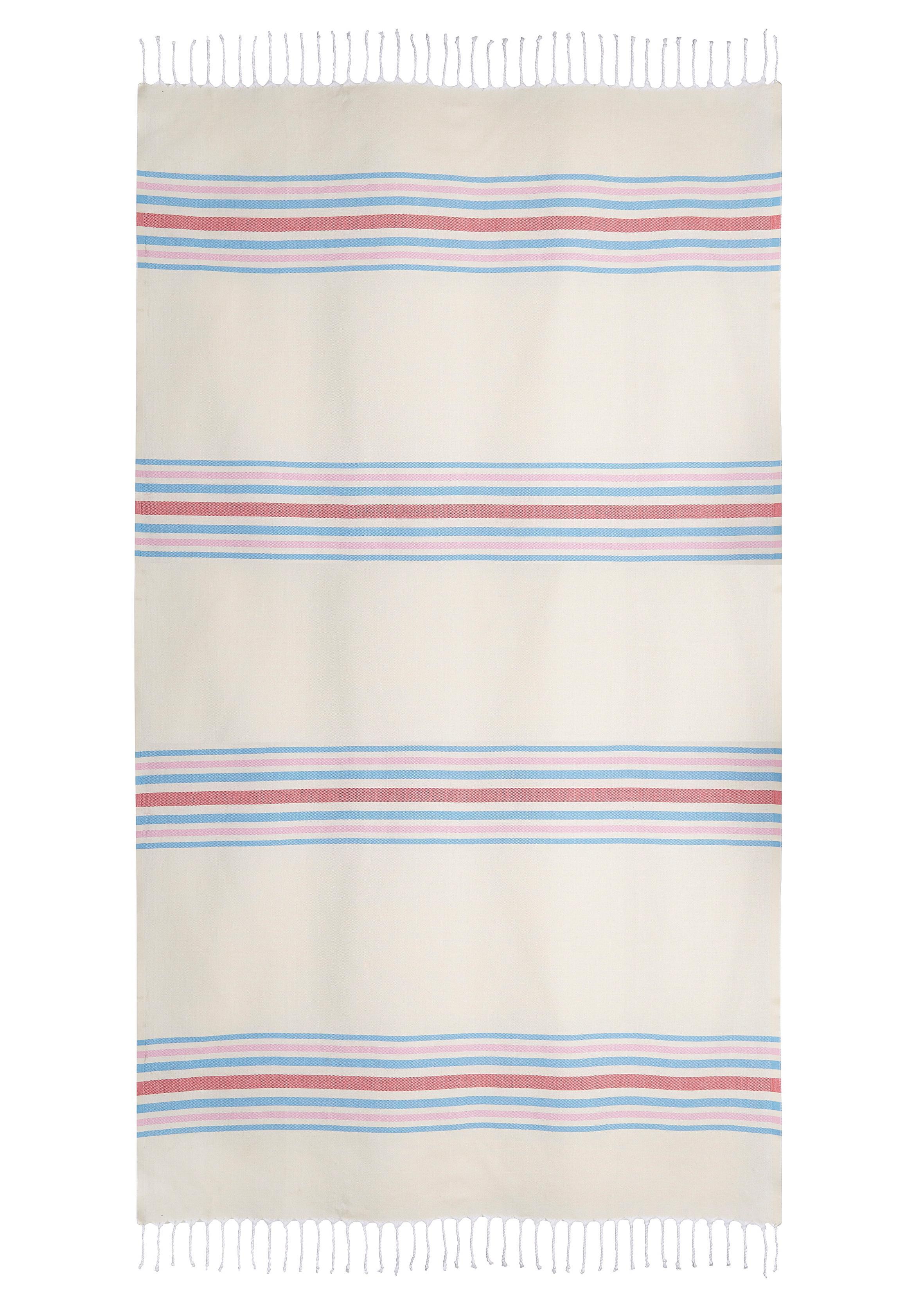 LASCANA schickes Strandtuch und Hammamtuch mit Streifen