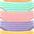 orange + grün + rosa + lila + gelb