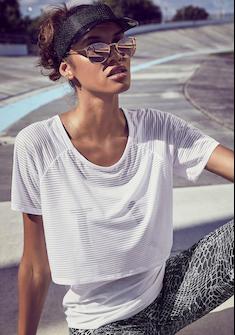LASCANA ACTIVE 2-in-1-Shirt »Digital Mauve«