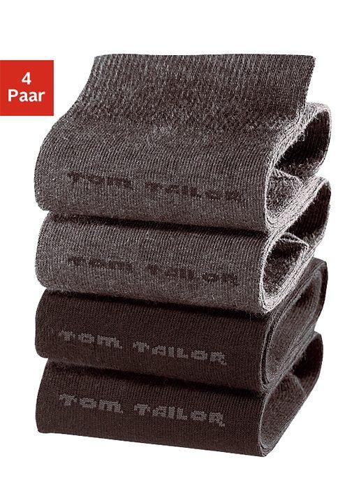 Tom Tailor Socken (4 Paar) mit druckfreiem Bündchen