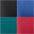 rot + petrol + blau + schwarz