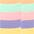 lila + rosa + orange + grün + gelb