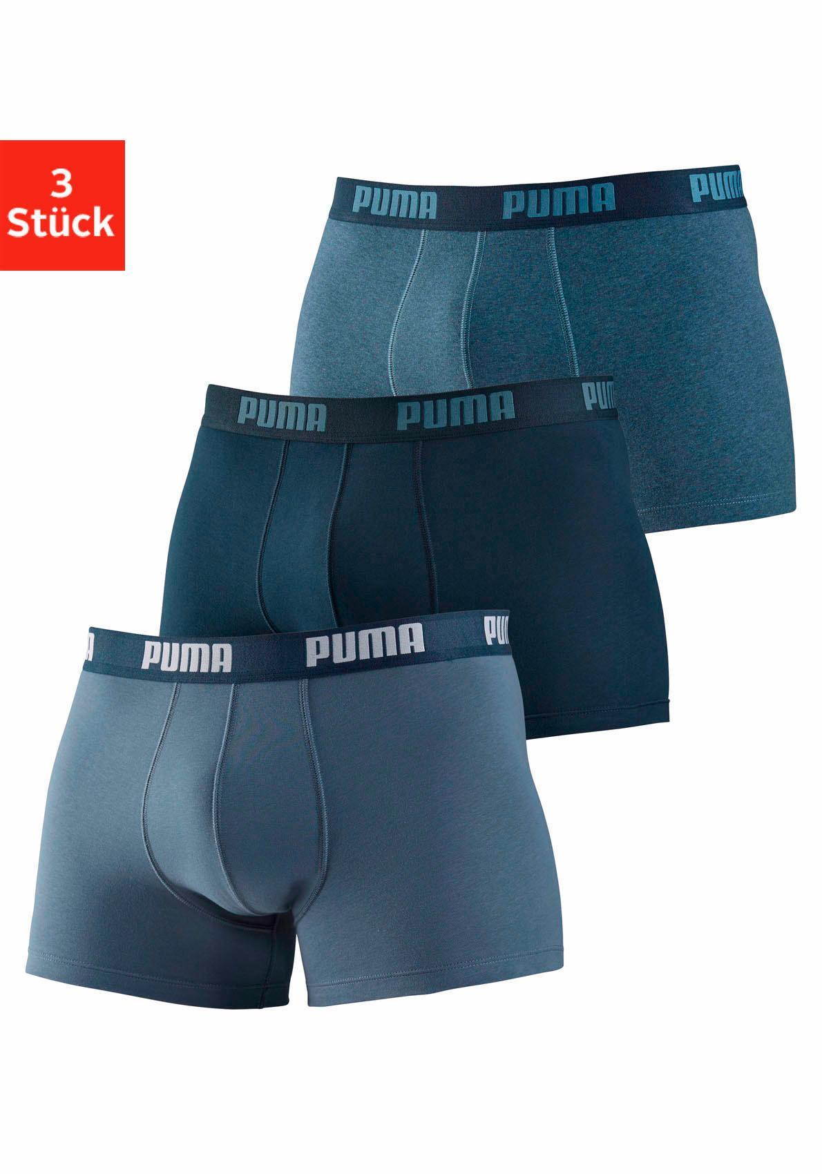 PUMA Boxer (3 Stück) in 3 Blautönen