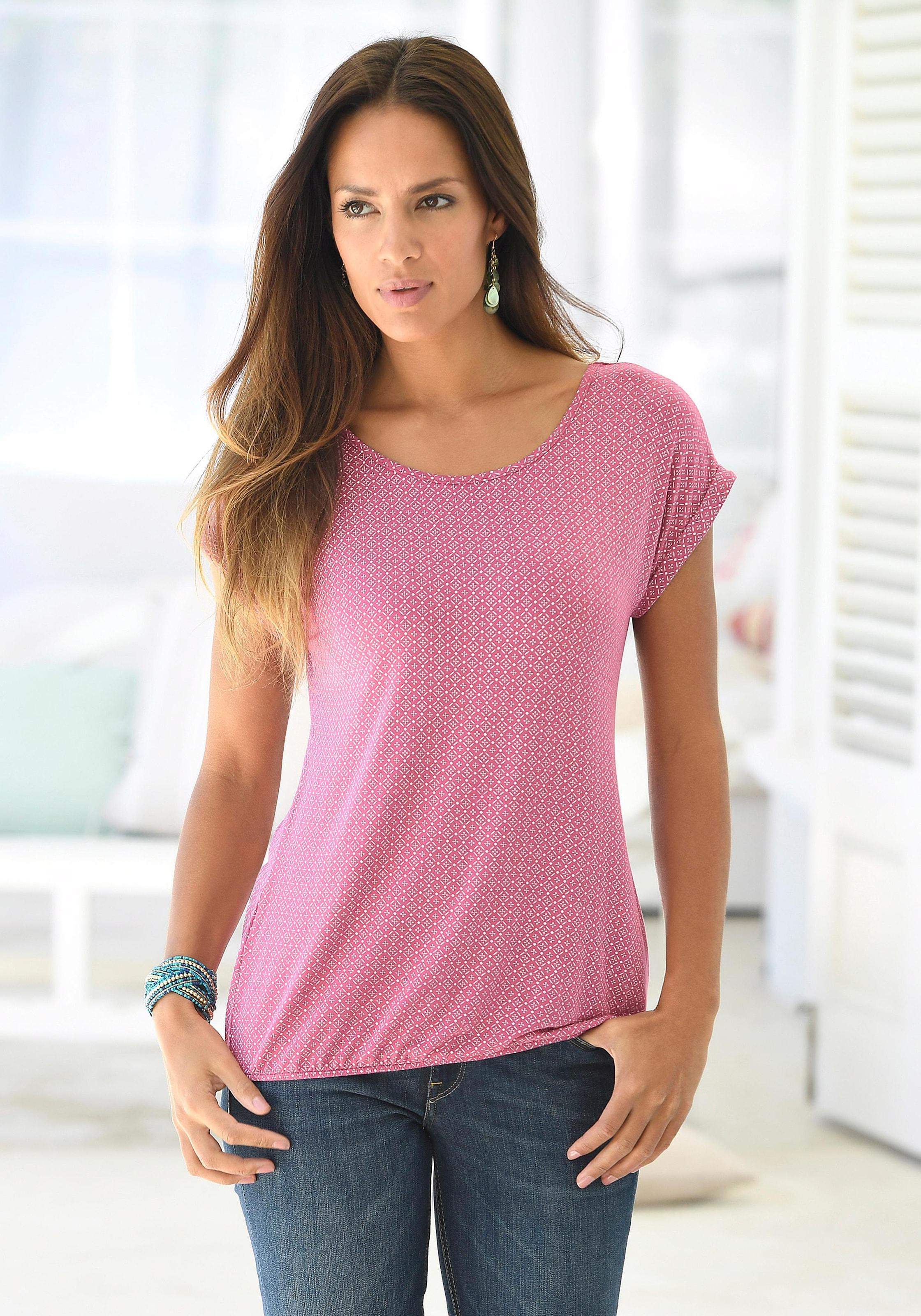 2f5d835a3ede7f LASCANA T-Shirts (2 Stück) mit Cut-out im Nacken online kaufen