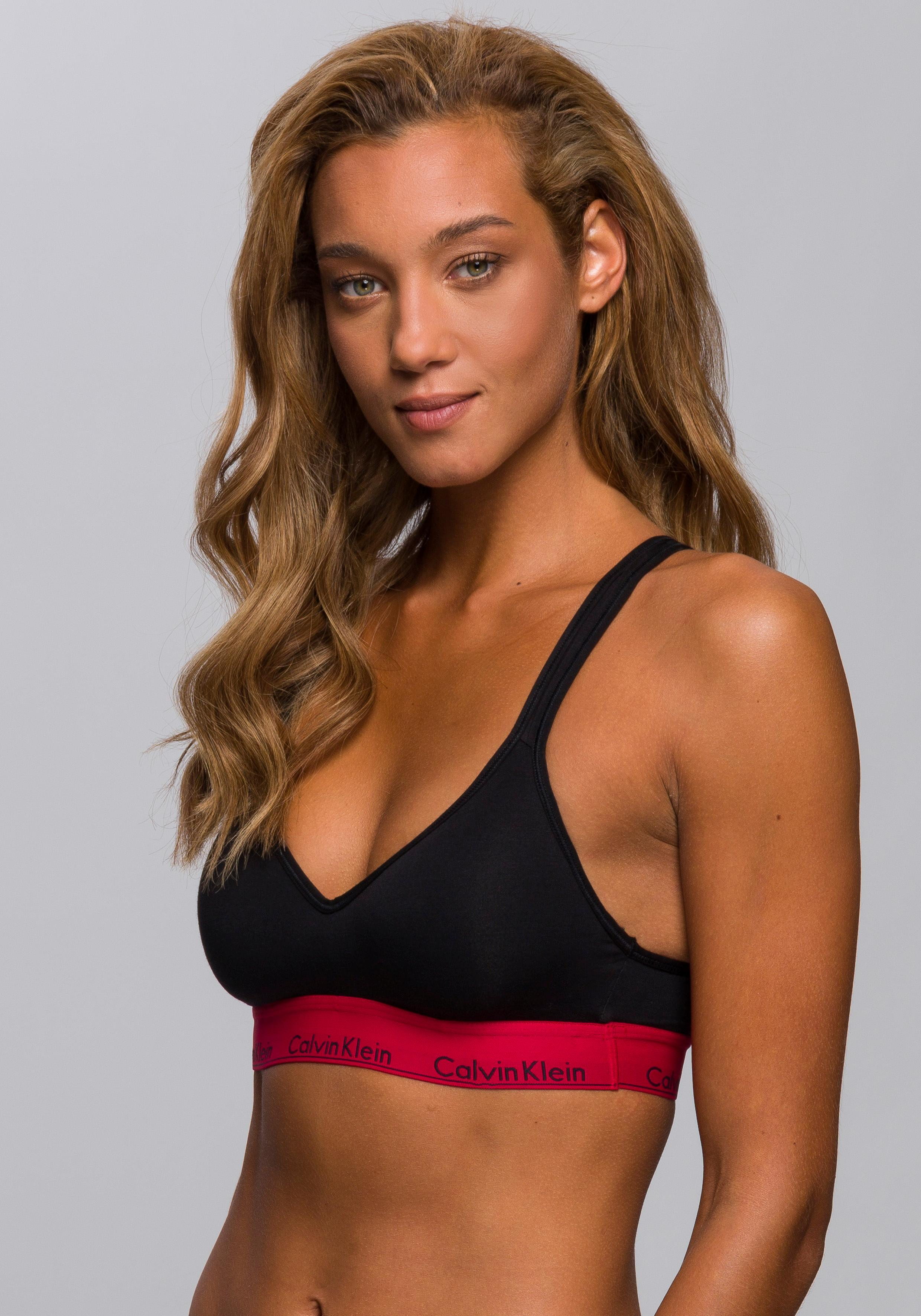 Calvin Klein Bustier Bralette Lightly Lined »modern cotton«