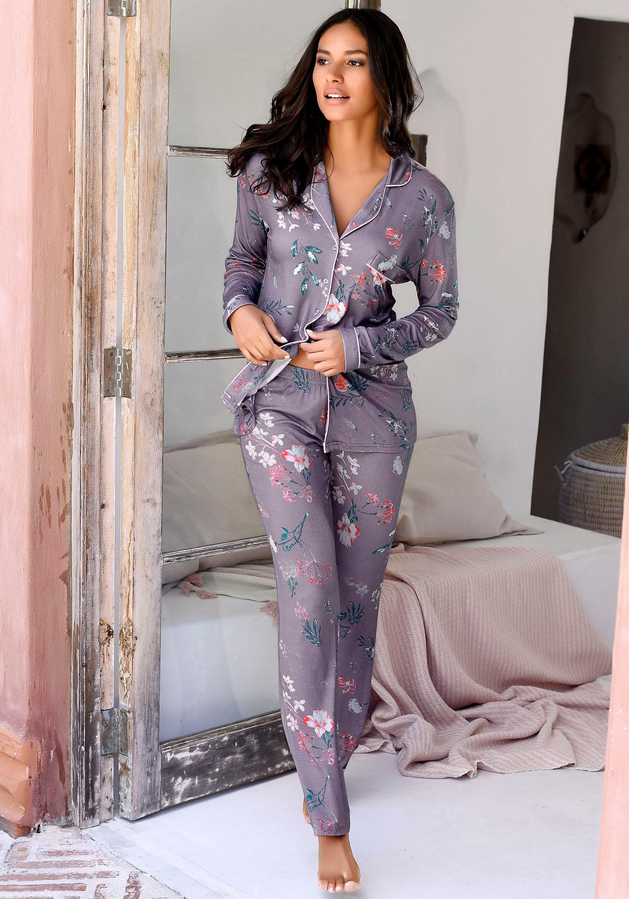 s.Oliver RED LABEL Bodywear Pyjama mit Flowerprint