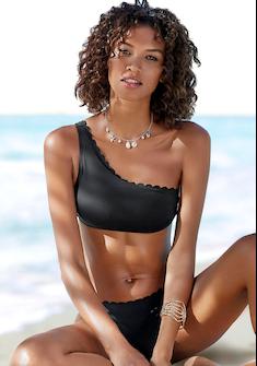 LASCANA Bustier-Bikini-Top »Scallop«