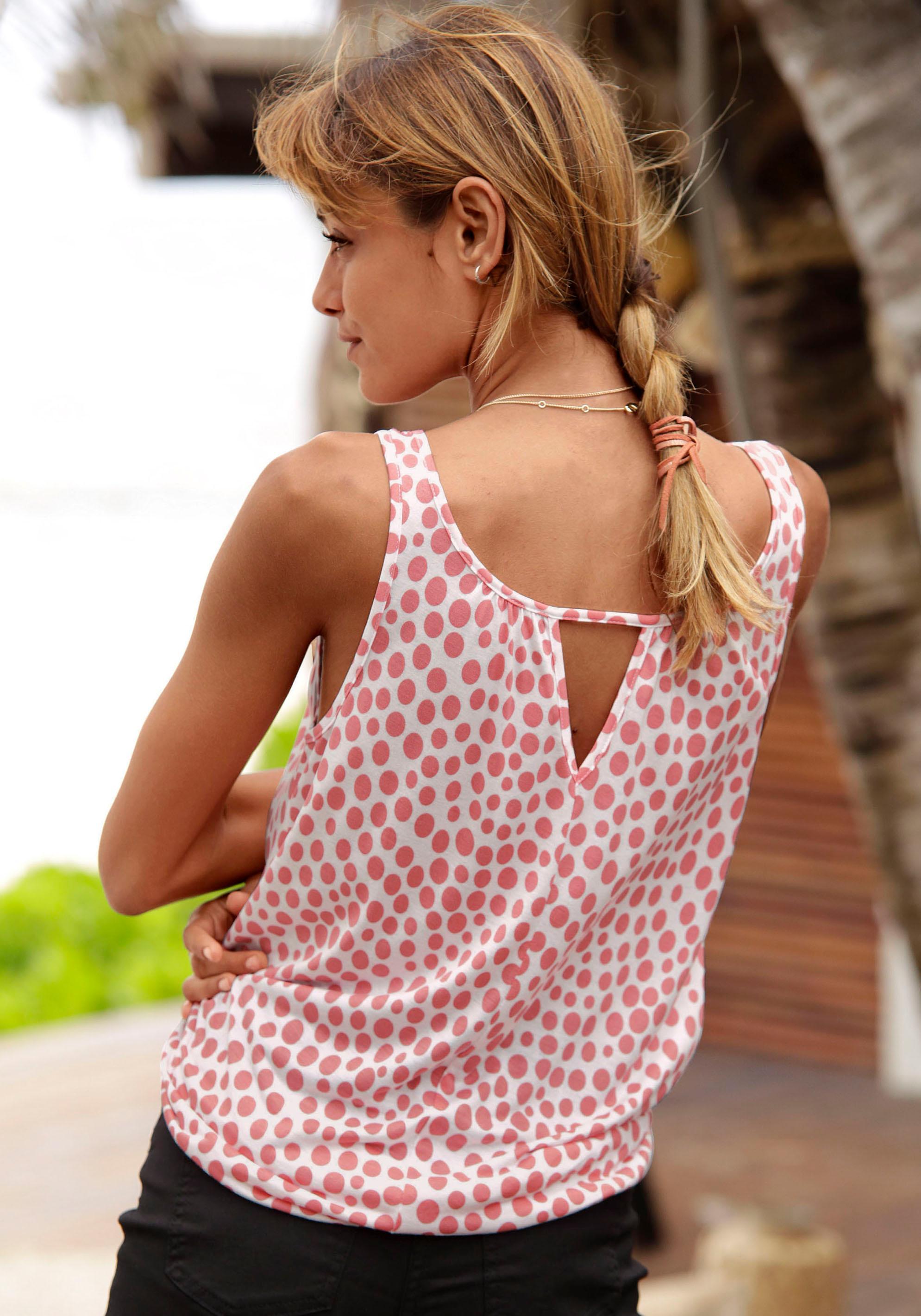 Beachtime Strandtop mit Zierausschnitt im Rücken