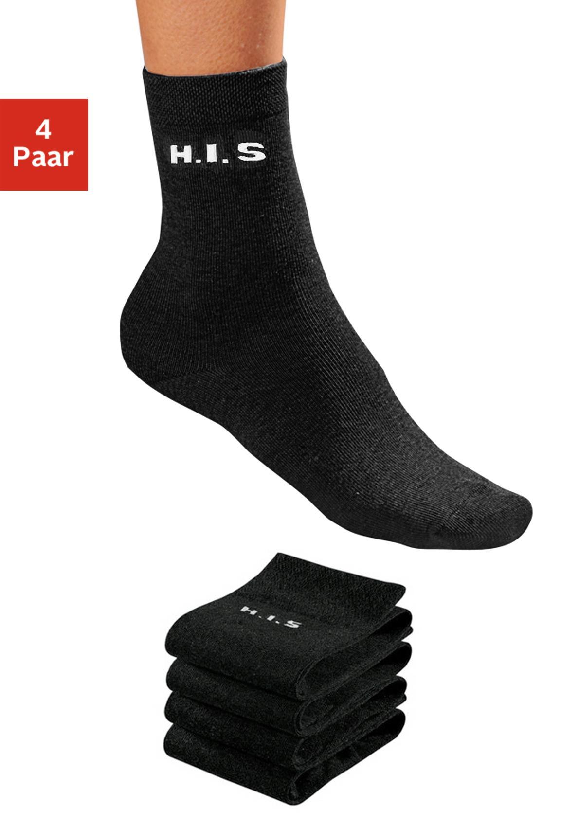 H.I.S Socken (4 Paar) ohne einschneidendes Bündchen