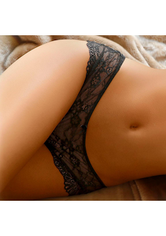 LASCANA Stringpanty schwarz