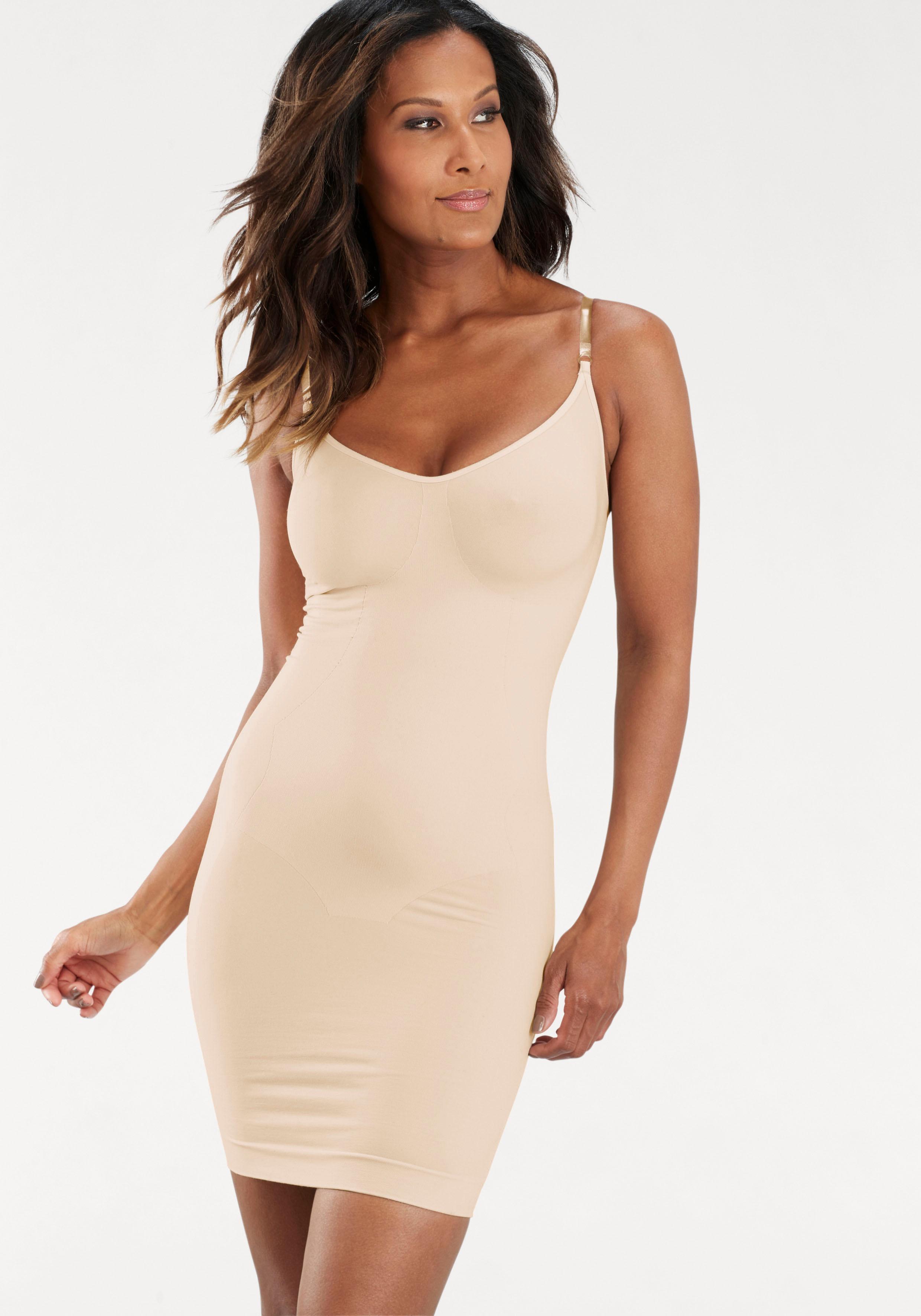 LASCANA Shaping-Kleid/ Unterkleid mit transparenten Trägern