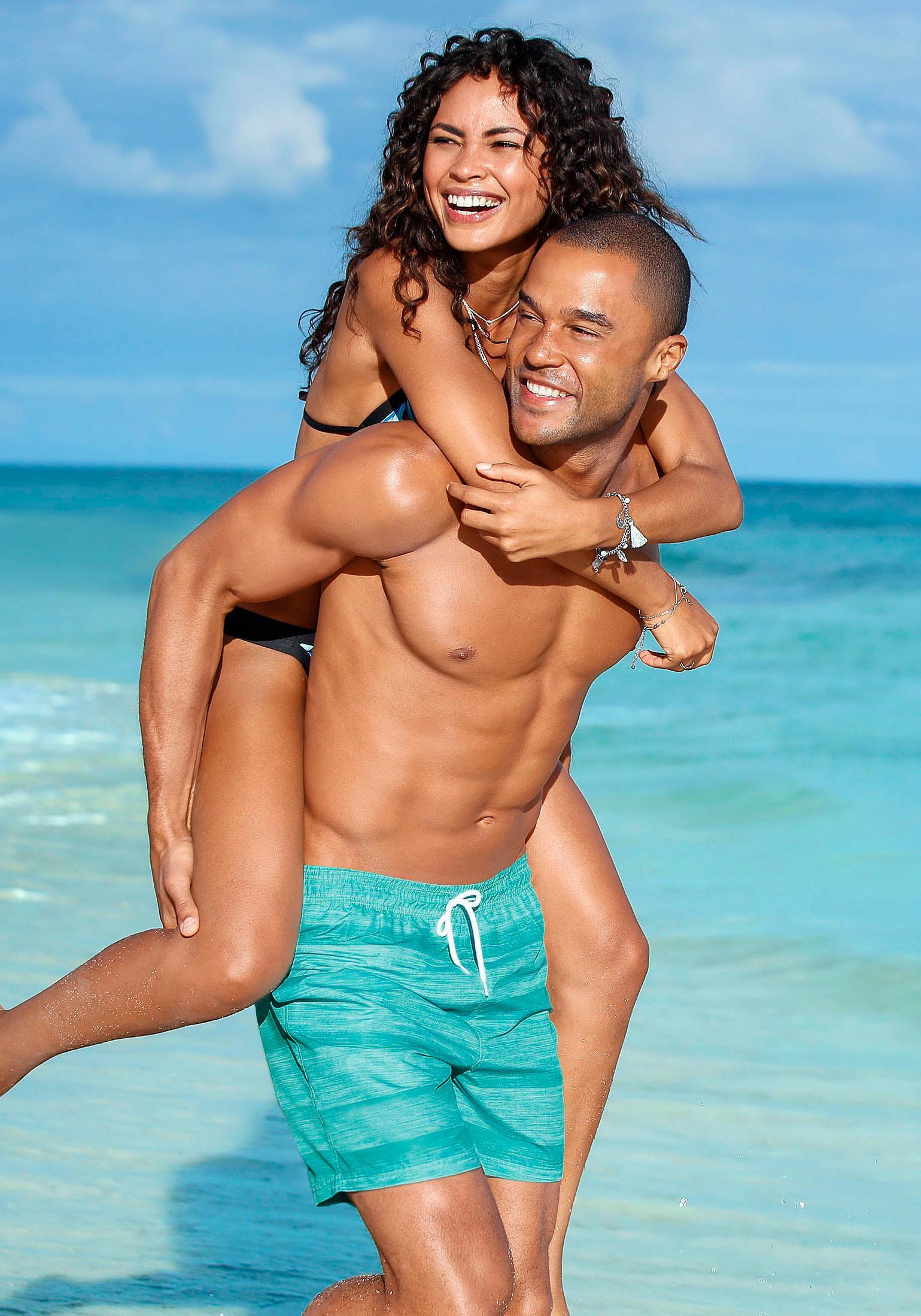 s.Oliver RED LABEL Beachwear Badeshorts meliert