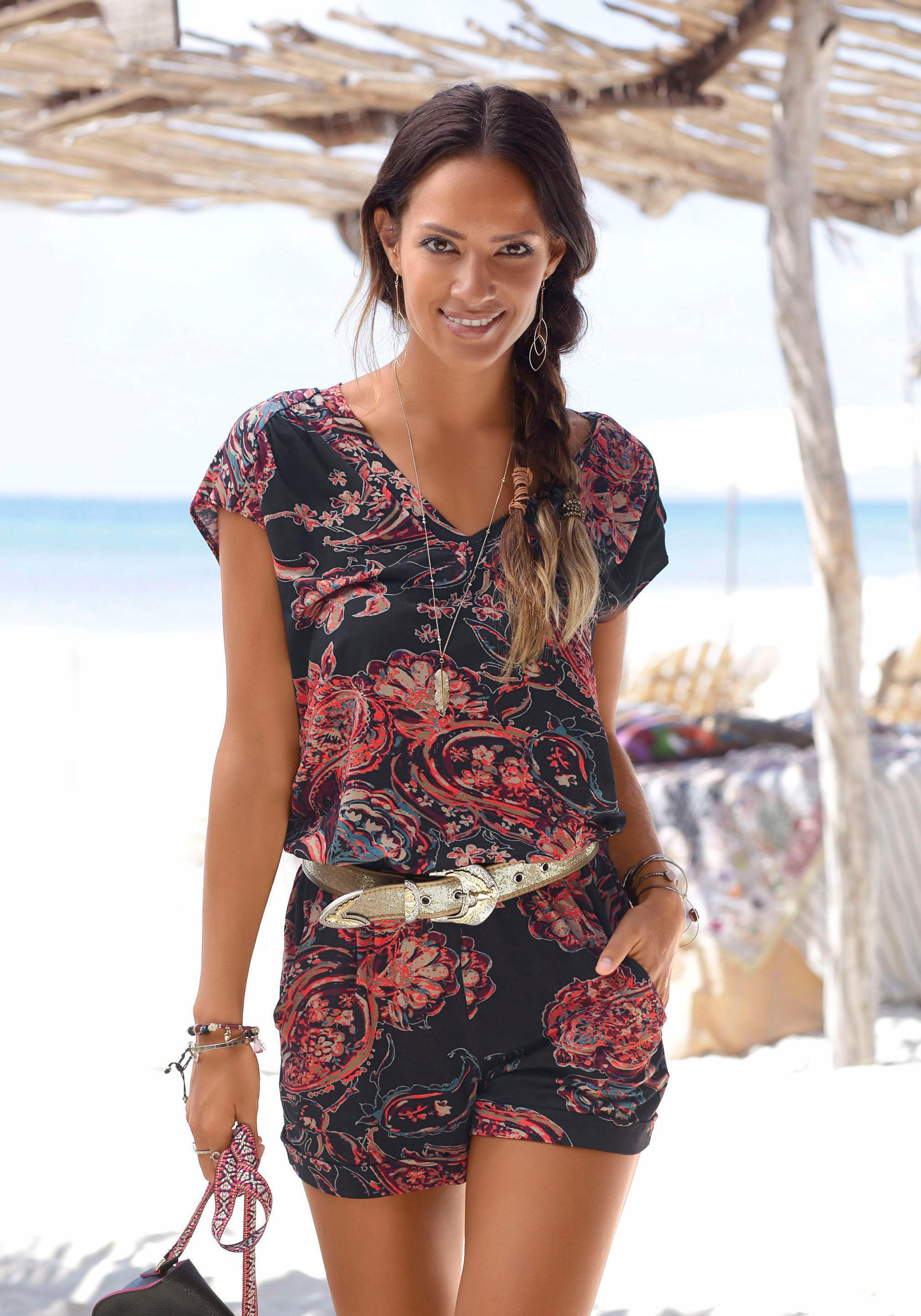 LASCANA Overall mit Paisleymuster