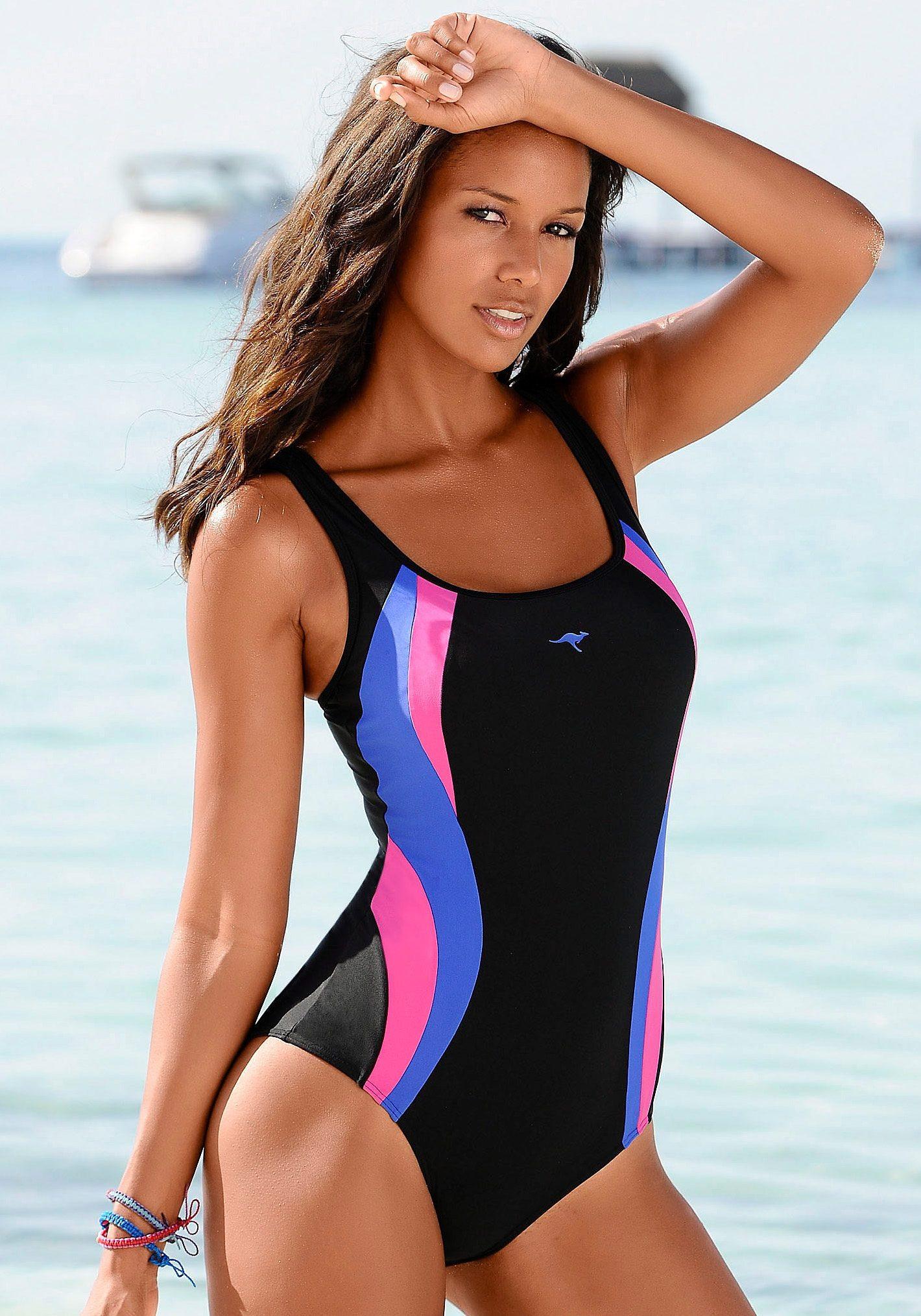 KangaROOS Badeanzug mit kontrastfarbenen Einsätzen