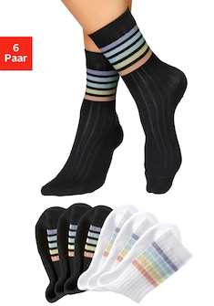 Buffalo Tennissocken Rainbow (6 Paar)