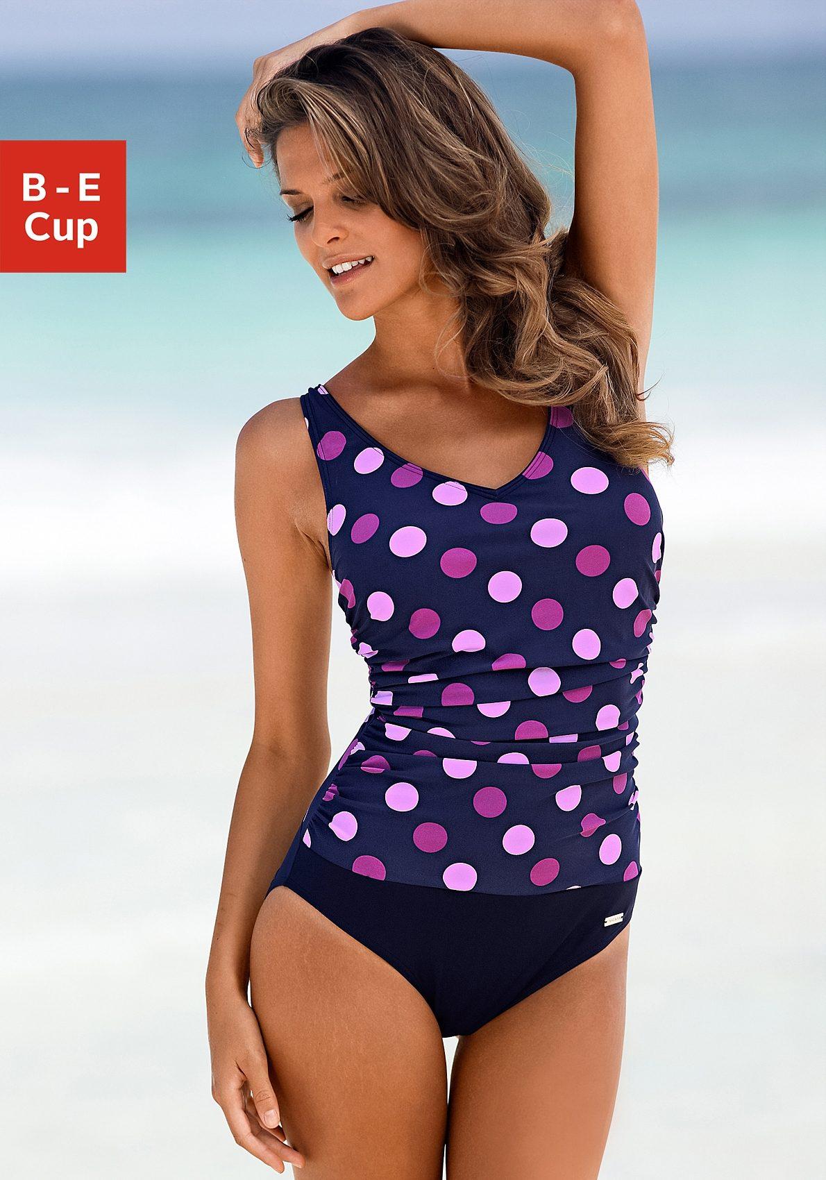 LASCANA Bügel-Badeanzug im schönen Punkte-Design