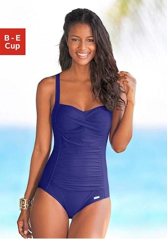 LASCANA Badeanzug, mit Raffungen vorn
