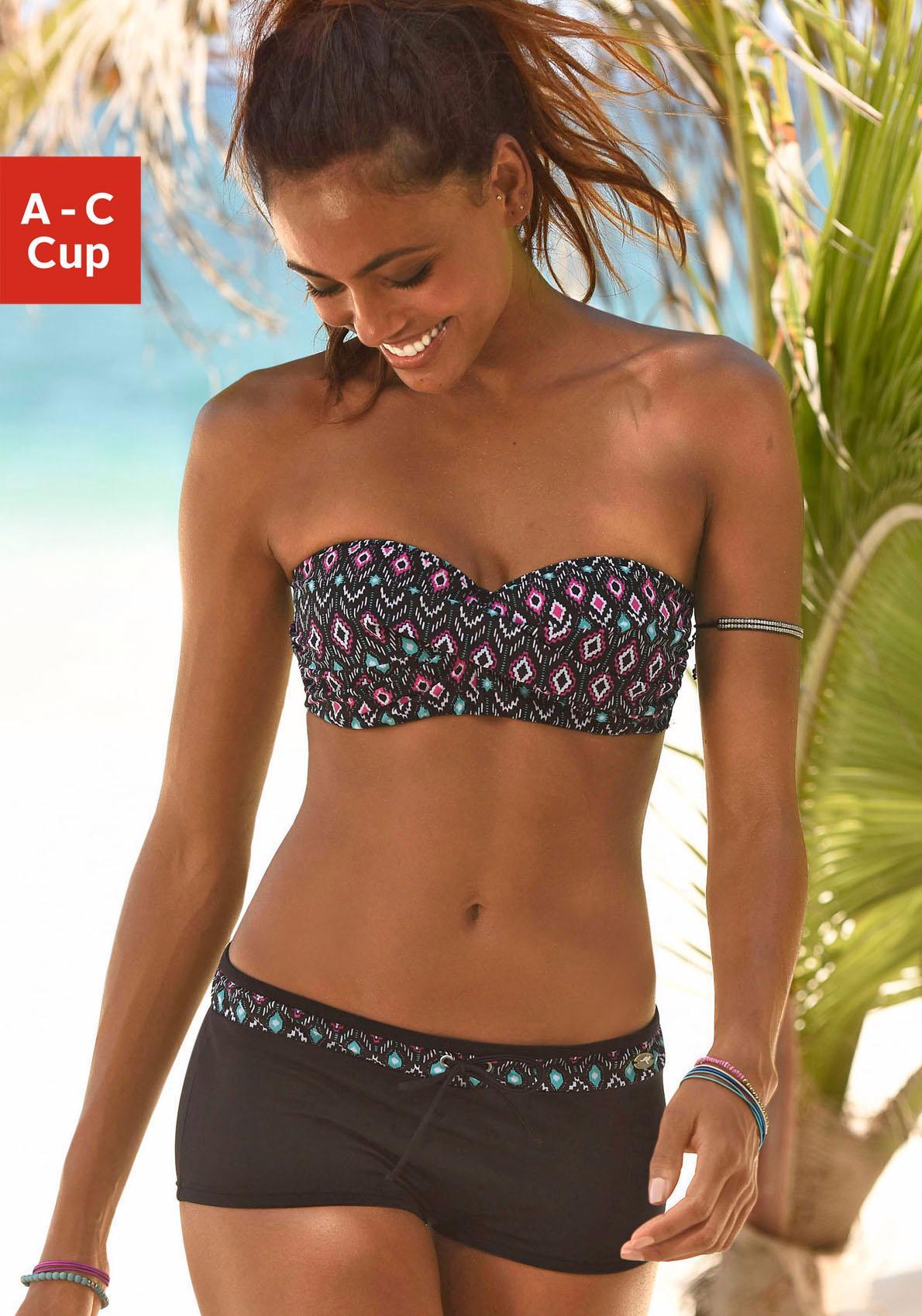 KangaROOS Bandeau-Bikini mit grafischem Print