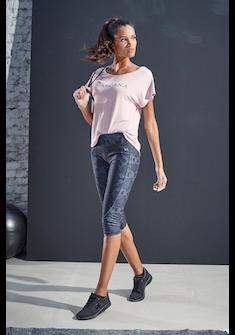 LASCANA ACTIVE T-Shirt »Shiny Snake Skin«