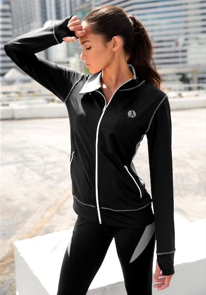 LASCANA ACTIVE Trainingsjacke »Black Marble«