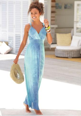 LASCANA Maxikleid, mit Batikdruck