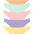 Je 2x uni lila + gelb + grün + orange + rosa