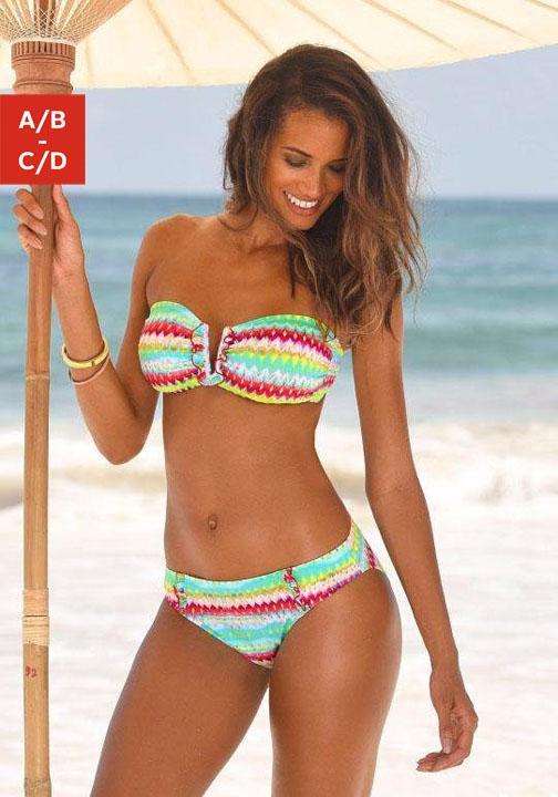 Homeboy Bandeau-Bikini mit buntem Print