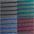 grau-schwarz-gestreift + grün-grau-gestreift + blau-grau-gestreift + rot-grau-gestreift