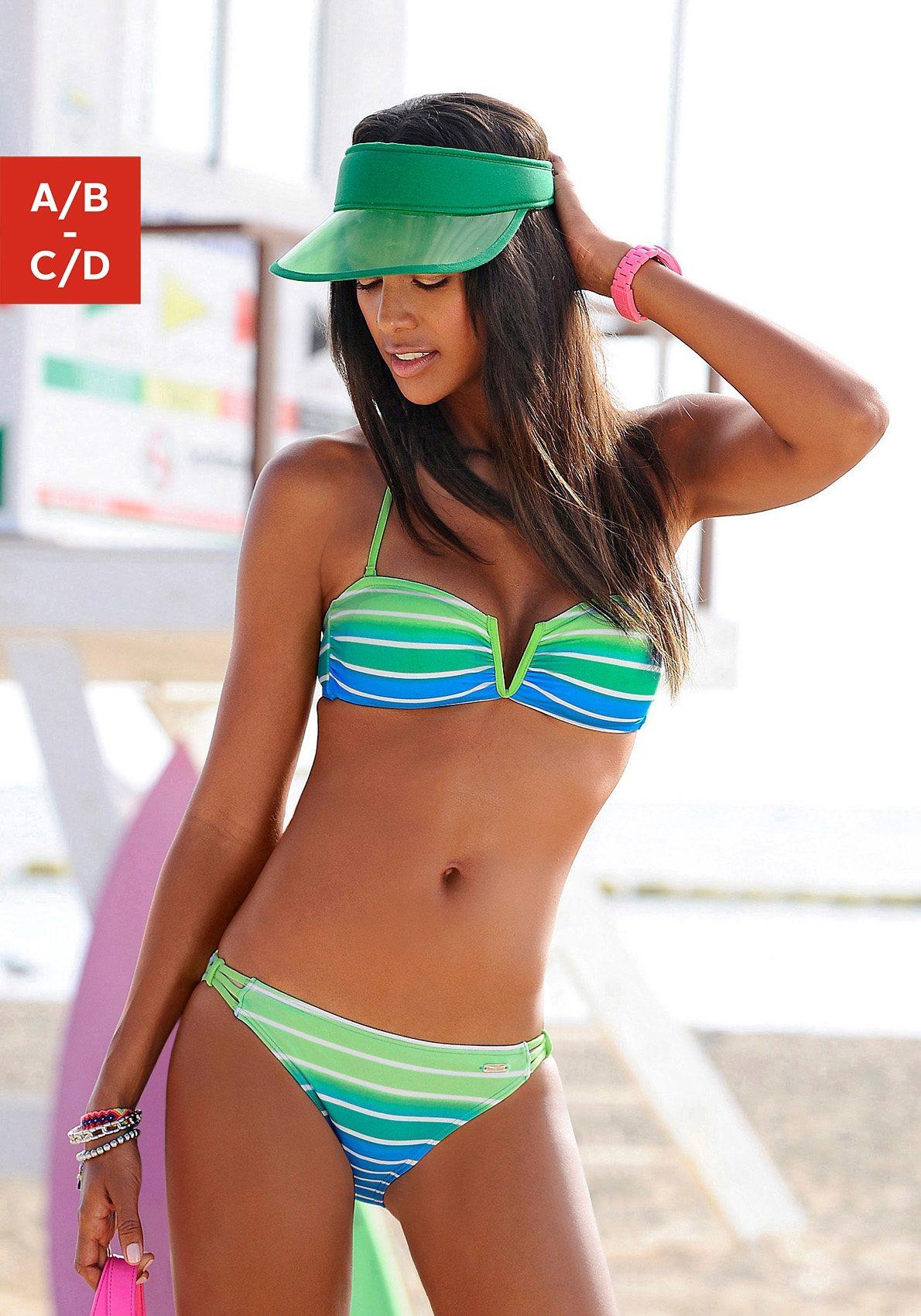 Venice Beach Bandeau-Bikini mit Farbverlauf