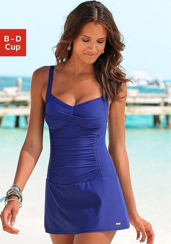 0a2c346e20e8 LASCANA Badeanzugkleid mit modischen Raffungen online kaufen