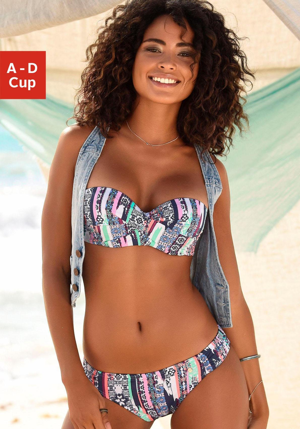 s.Oliver RED LABEL Beachwear Bügel-Bandeau-Bikini mit abnehmbaren Trägern