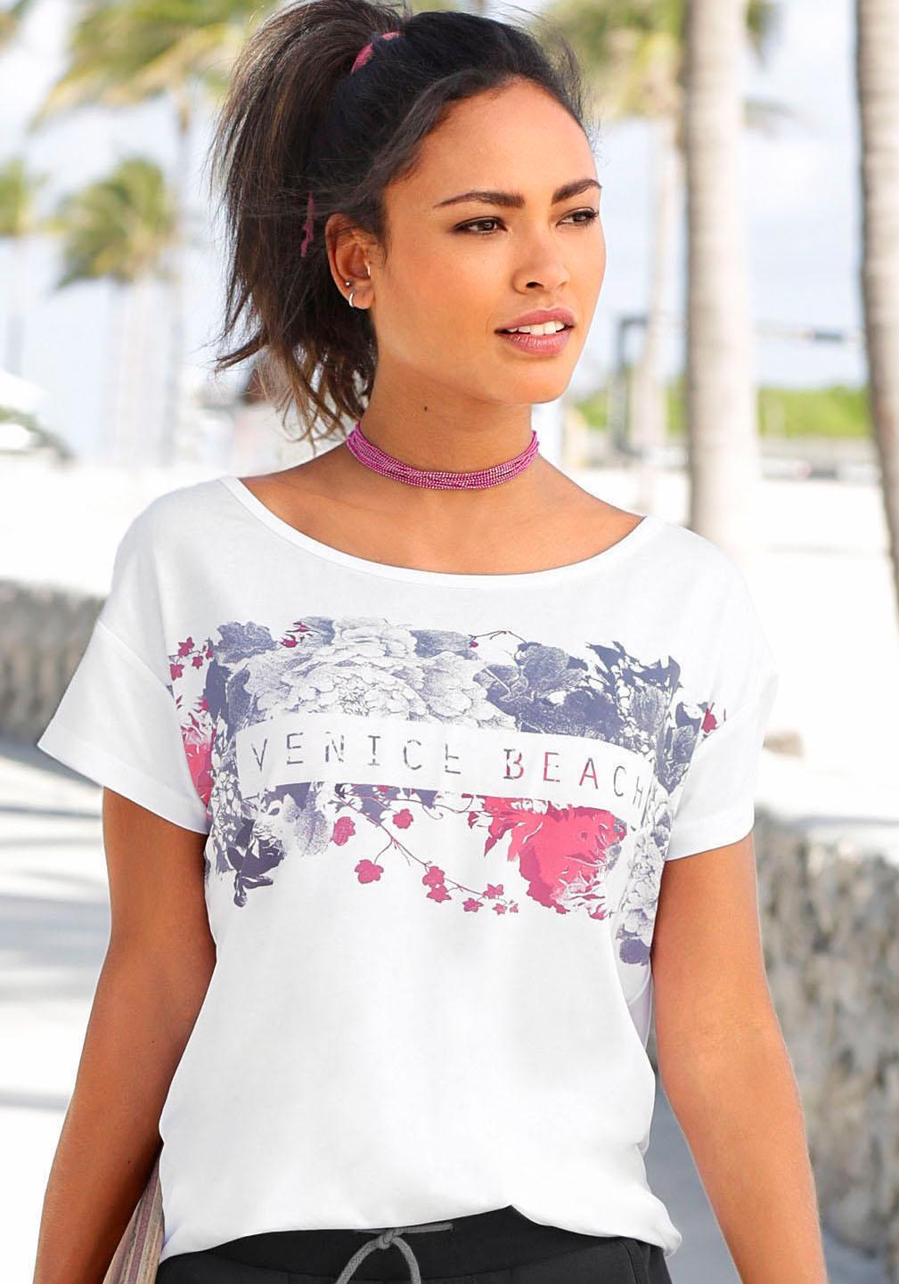 Venice Beach Shirt mit Frontprint