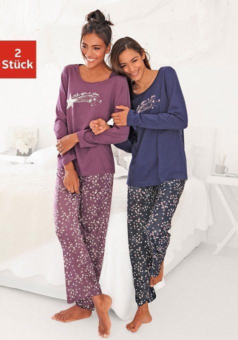 Vivance Dreams Pyjamas (2 Stück) mit Sternenprint