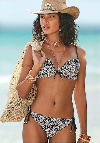 Bruno Banani Push-Up-Bikini, mit Zierperlen