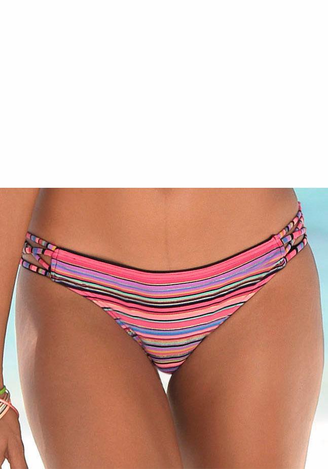 Homeboy Bikini-Hose »Kuba« mit Glanzstreifen und seitlichen Bändern