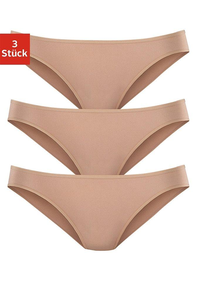 LASCANA Bikinislip (3 Stück) in Modal-Qualität