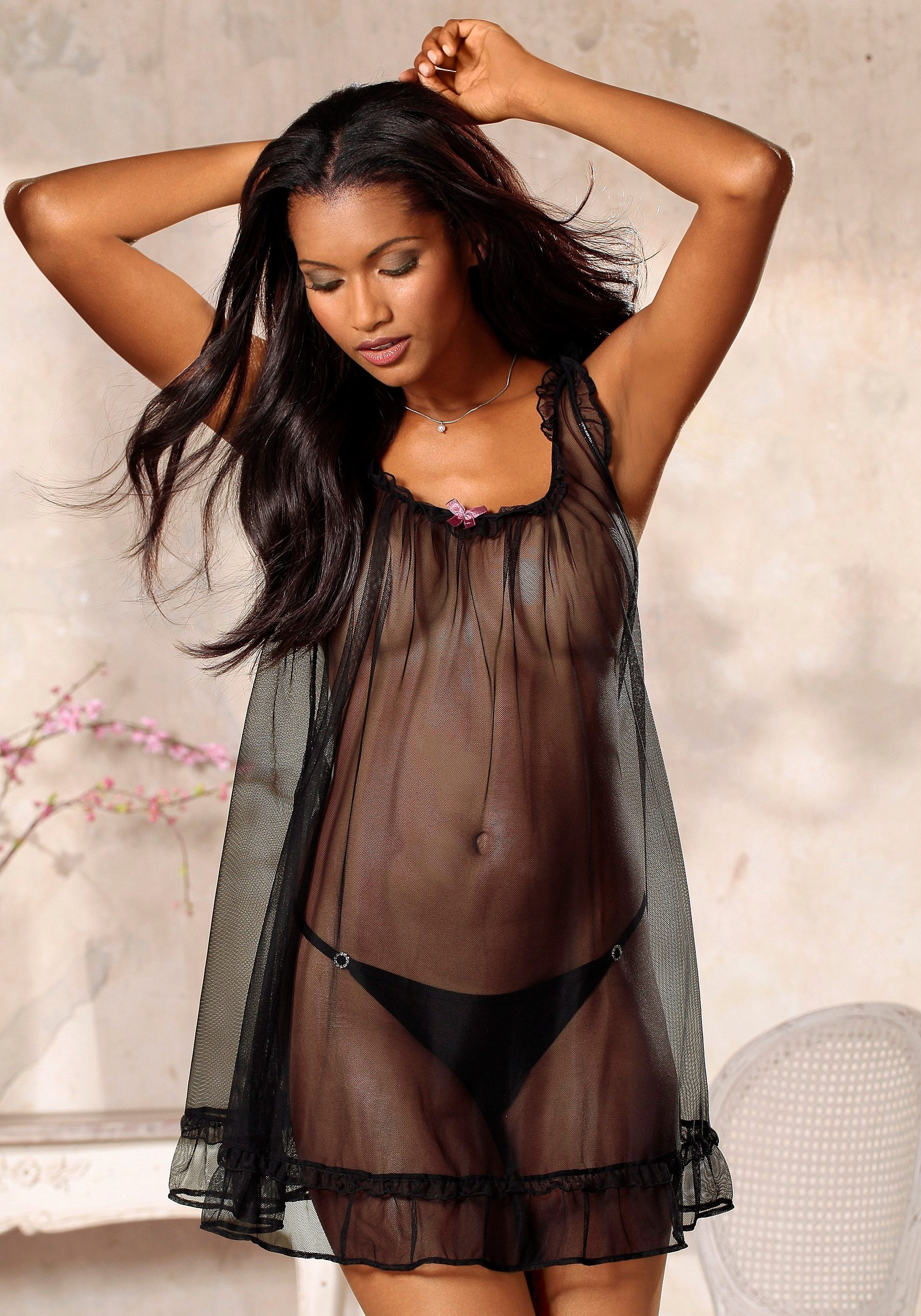 LASCANA Negligee in transparenter Babydoll-Optik