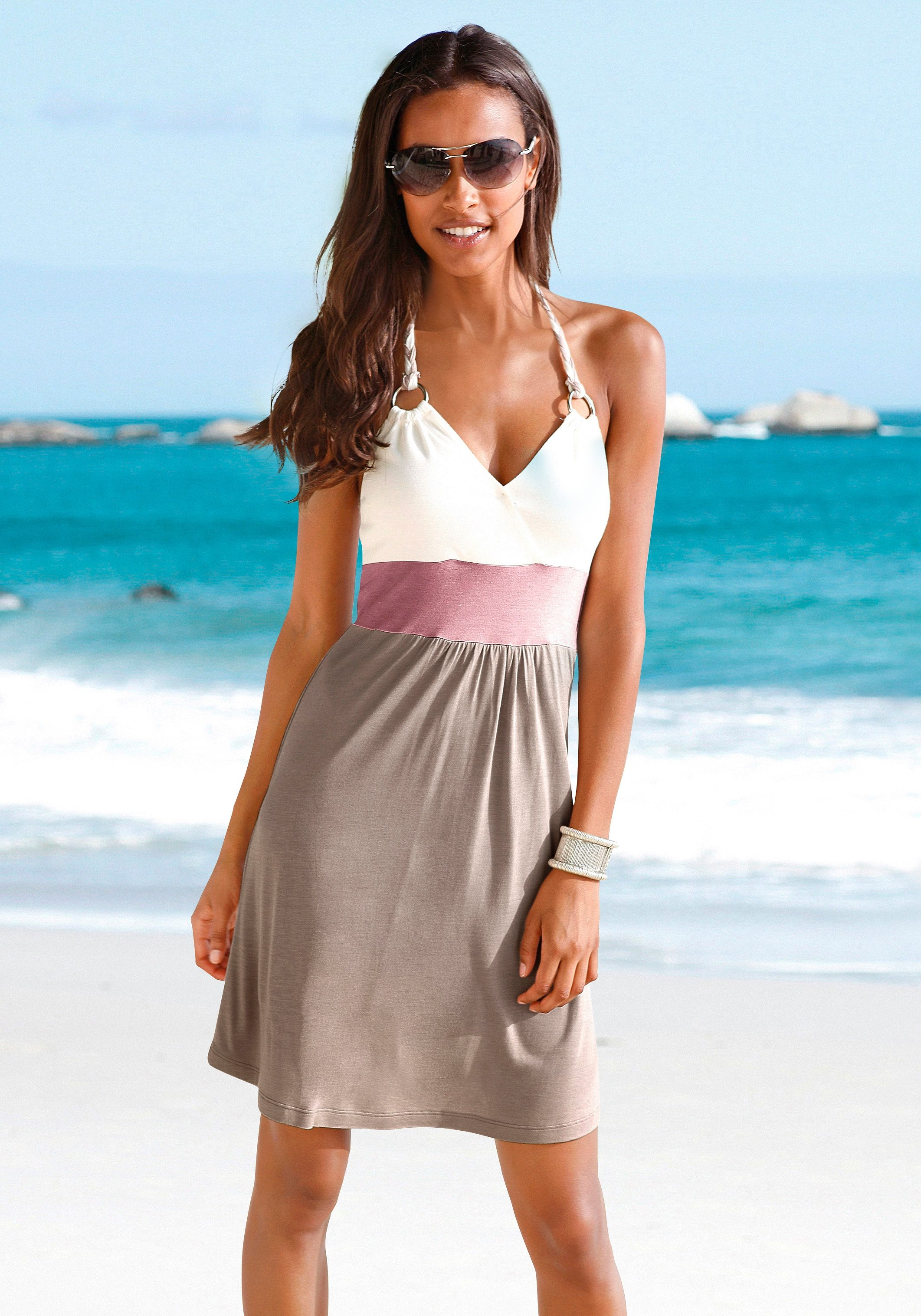Beachtime Strandkleid mit Color-Blocking