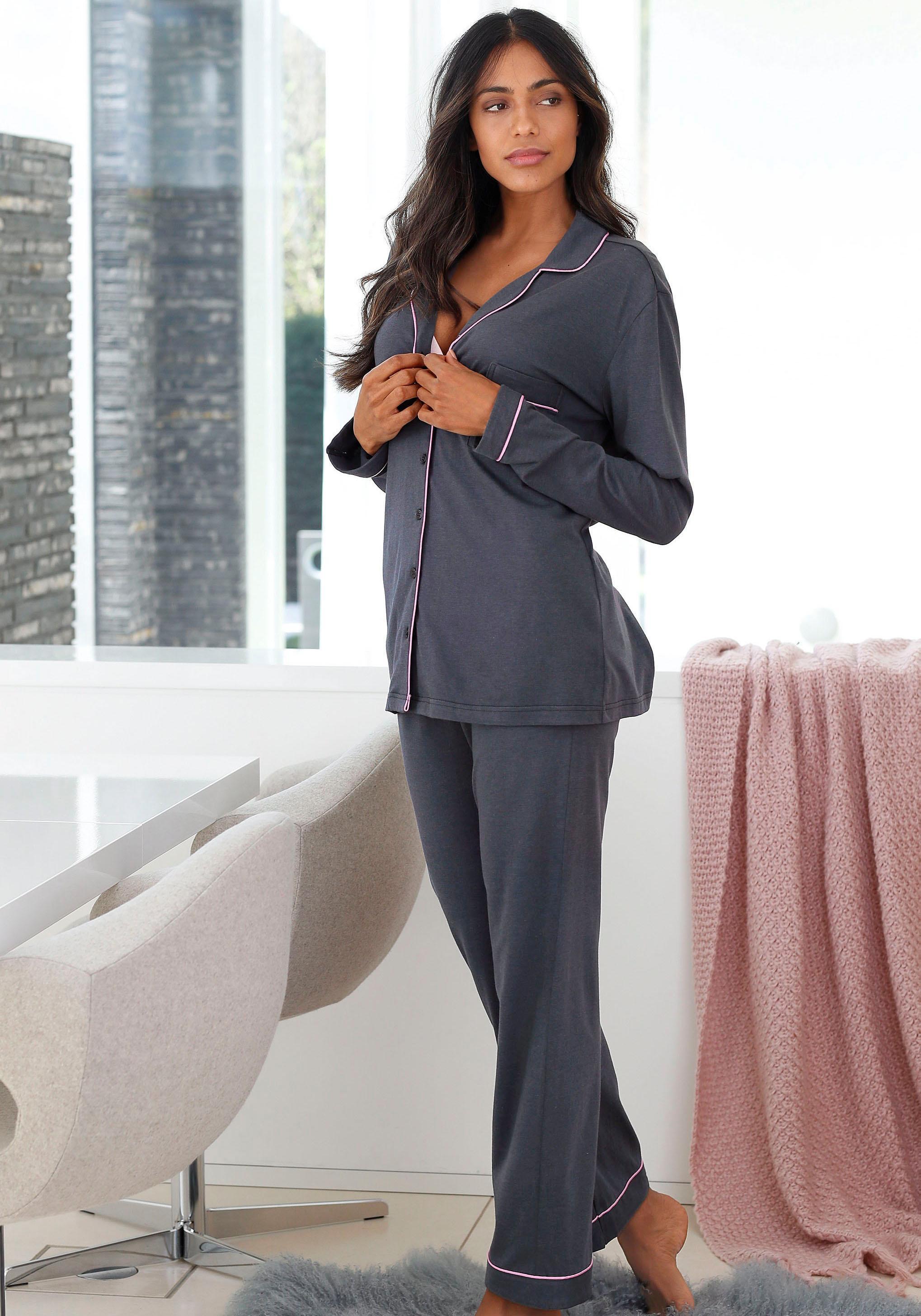 LASCANA Pyjama in klassischer Form
