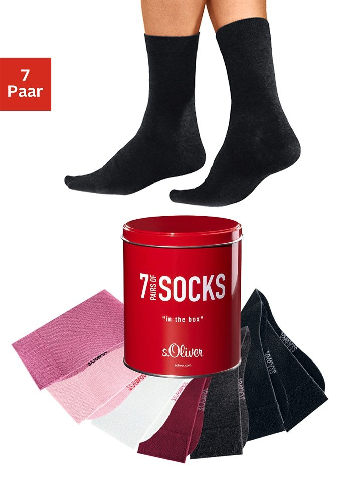 s.Oliver Bodywear Businesssocken (Dose, 7 Paar)